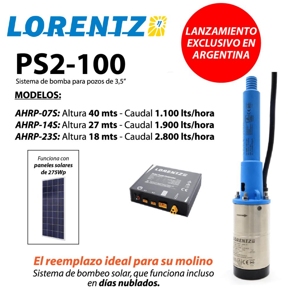 bomba sumergible solar lorentz ps2-100