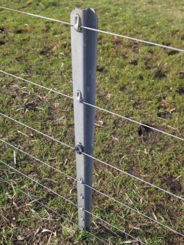 poste tecmetal galvanizado para alambrar rapido facil y a bajo costo