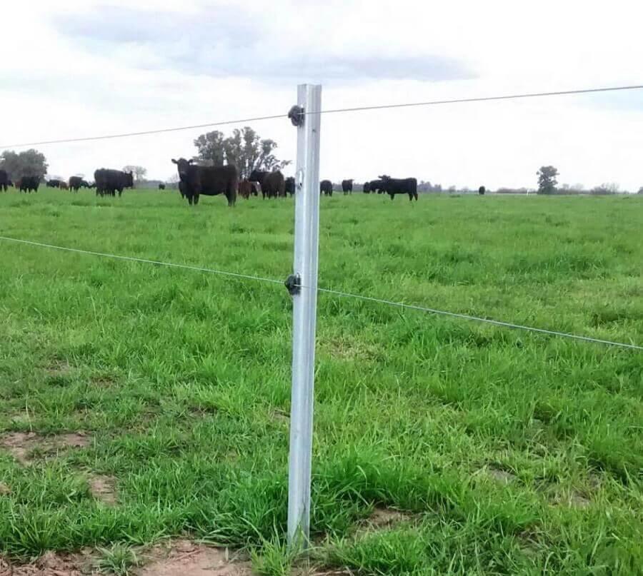 tec metal poste galvanizado para pastoreo rotativo tipo pensagro