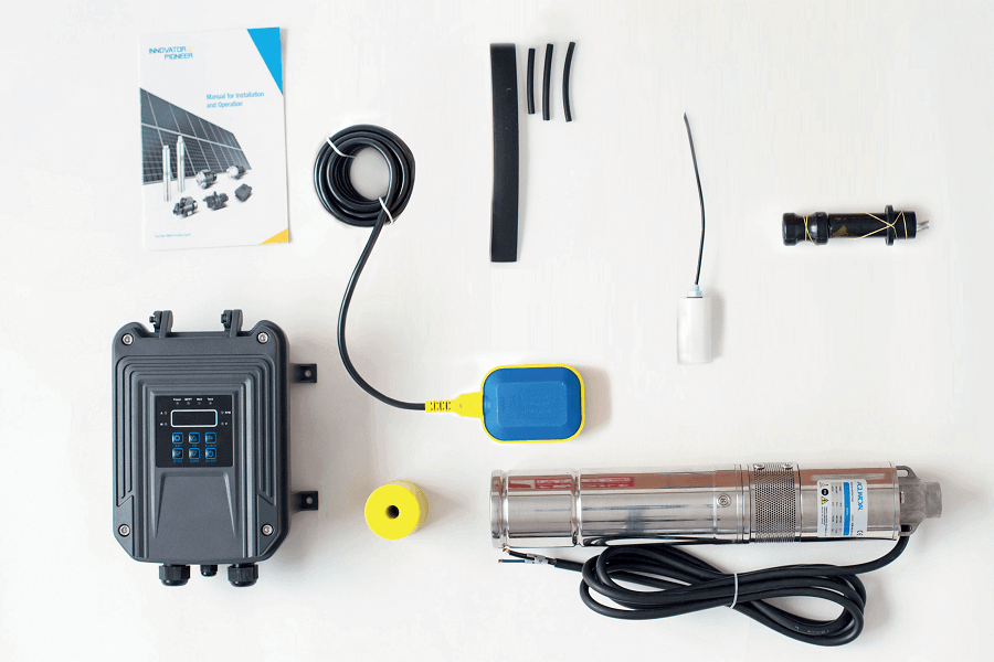 kit de instalacion y componentes de bomba solar de 3 pulgadas
