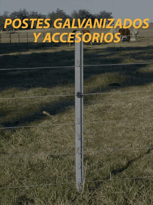 postes y accesorios para alambrados y boyeros campo argentino