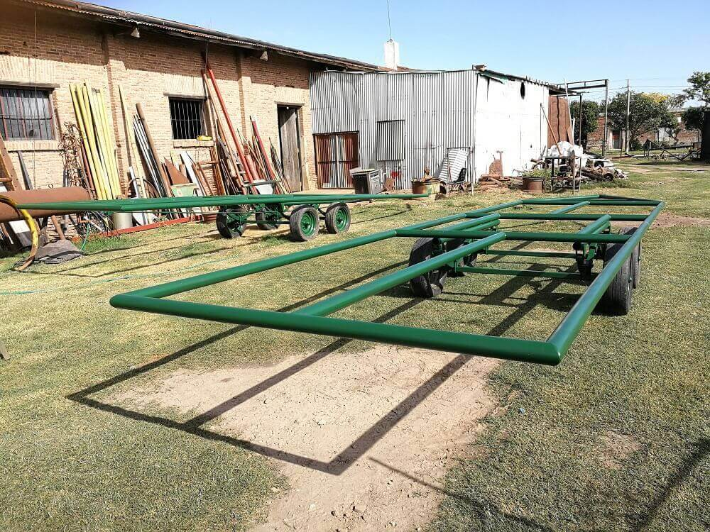 acoplados trailers cano tubing petrolero bombeo solar movil