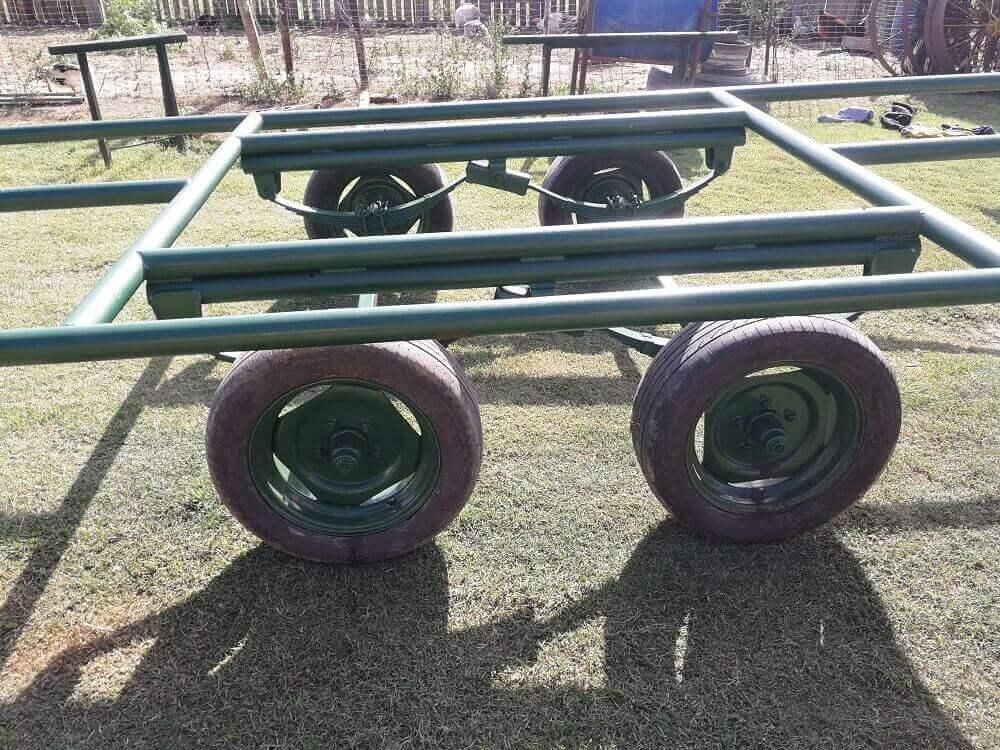 trailer sistema de bombeo solar movil eje balancin